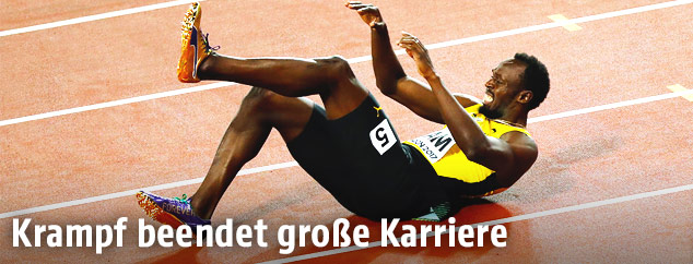 Usain Bolt am Boden