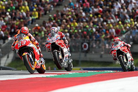 Marc Marquez (ESP/ Honda) und Andrea Dovizioso (ITA/ Ducati)