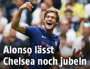 Jubel von Marcos Alonso (Chelsea)
