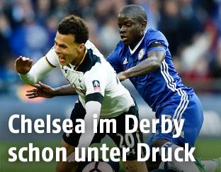 Dele Alli (Tottenham) und N'Golo Kante (Chelsea)