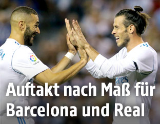 Gareth Bale und Karim Benzema