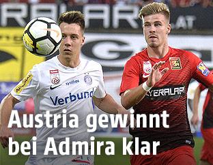 Dominik Prokop (Austria) gegen Dominik Starkl (Admira)