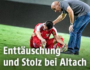 Kristijan Dobras und Klaus Schmidt (Altach)