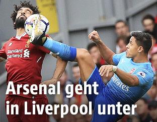 Mohamed Salah (Liverpool) und Alexis Sanchez (Arsenal)