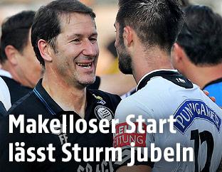 Sturm-Coach Franco Foda und Marvin Potzmann