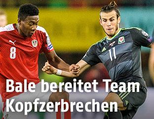 David Alaba und Gareth Bale