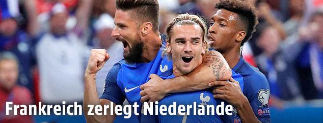 Jubel des französischen Teams