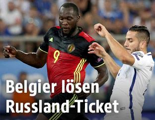 Spielszene Griechenland - Belgien