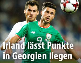 Spielszene zwischen Georgien und Irland