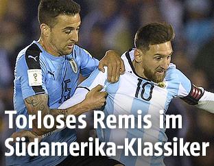 Lionel Messi und Matias Vecino