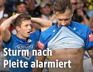 Enttäuschte Sturm-Spieler