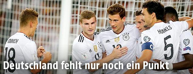 Spieler von Deutschland jubeln