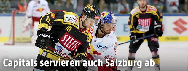 Tyler Cuma (Vienna) und Thomas Raffl (Salzburg)