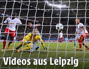 Szene aus dem Spiel Leipzig - Monaco