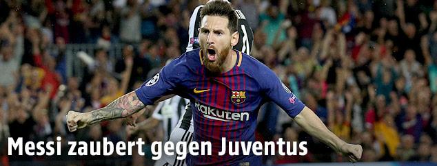 Jubel von Lionel Messi (Barcelona)