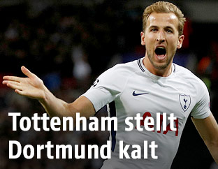 Jubel von Harry Kane (Tottenham)