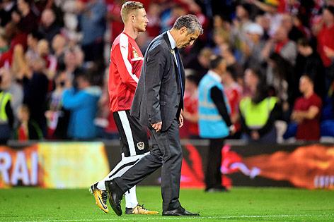 ÖFB-Teamchef Marcel Koller nach dem Spiel gegen Wales in Cardiff