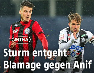 Fabian Altmanninger (Anif) und Philipp Zulechner (Sturm)