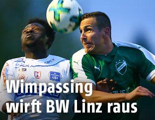 Samuel Oppong (Linz) und Mario Erben (Wimpassing)