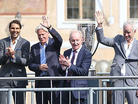 Rafael Nadal, Bjorn Borg, Rod Laver und John McEnroe