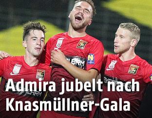 Christoph Knasmuellner (Admira), Lukas Grozurek (Admira) und Thomas Ebner (Admira)