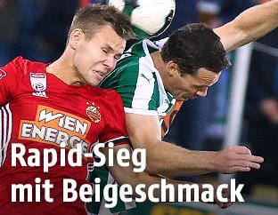 Louis Schaub (SK Rapid Wien) und Patrick Buerger (SV Mattersburg)