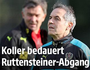 Willi Ruttensteiner und ÖFB-Teamchef Marcel Koller