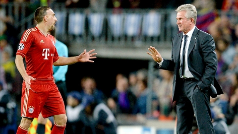 Franck Ribery und Bayern-Trainer Jupp Heynckes