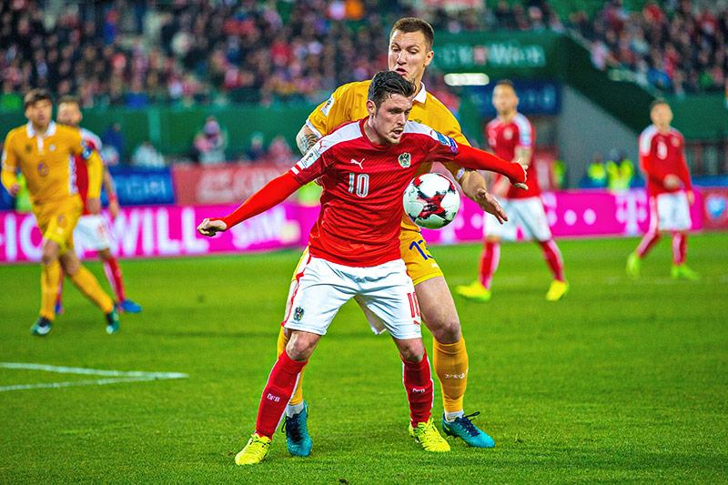 Zlatko Junuzovic (Österreich) im Spiel gegen Moldawien