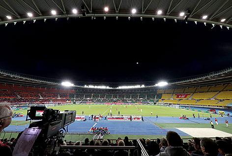 Spärlich gefülltes Ernst-Happel-Stadion