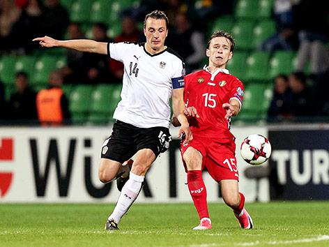 Spielszene zwischen Österreich und Moldau
