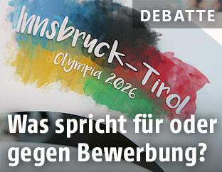 Flagge zu Tirols Olympiabewerbung