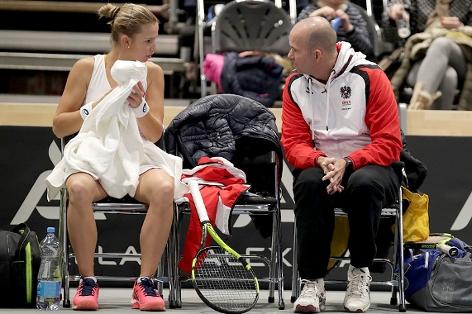 Barbara Haas und Trainer Jürgen Waber