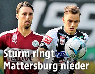 Alejandro Velasco Farinas Jano (Mattersburg) und Stefan Hierländer (Sturm)