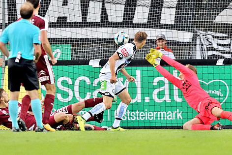 Tor von Stefan Hierländer (Sturm) gegen Mattersburg