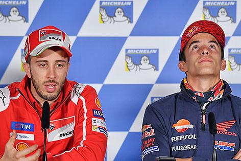 Andrea Dovizioso und Marc Marquez