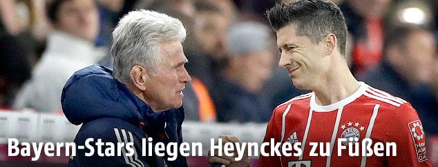 Jupp Heynckes und Robert Lewandowski