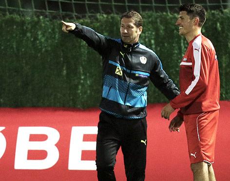 Franco Foda (AUT) und Alessandro Schoepf (AUT).