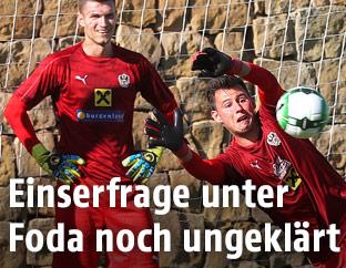 ÖFB-Torhüter Heinz Lindner, Jörg Siebenhandl