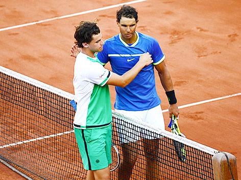 Dominic Thiem und Rafael Nadal