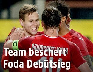 ÖFB-Teamspieler jubeln
