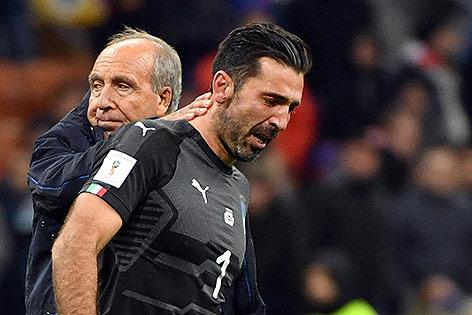 Gian Piero Ventura und Gianluigi Buffon