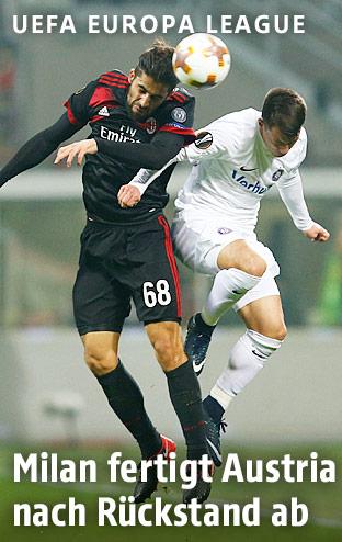 Ricardo Rodriguez (AC Milan) und Dominik Prokop (Austria Wien)