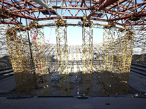 Baustelle in russischem Stadion