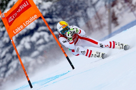 Michelle Gisin rast in Lake Louise aufs Podium