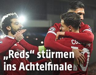 Liverpool-Spieler jubeln
