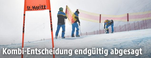 Nebel in Sankt Moritz