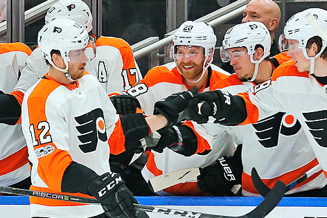 Jubel von Michael Raffl (Philadelphia Flyers)