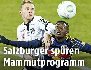 Spielszene zwischen Salzburg und WAC