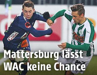 Florian Flecker (WAC) und Michael Lercher (Mattersburg)